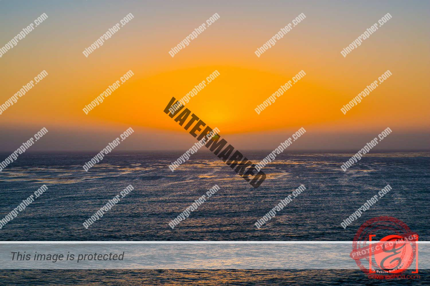 Sunset at San Simeon Beach at the foot of Hearst Castle