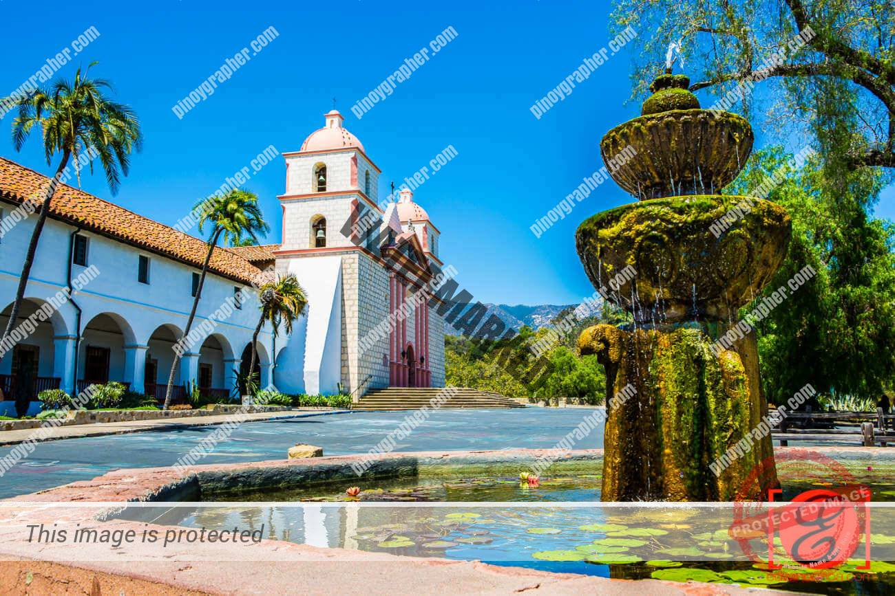 Beautiful Old Mission Santa Barbara