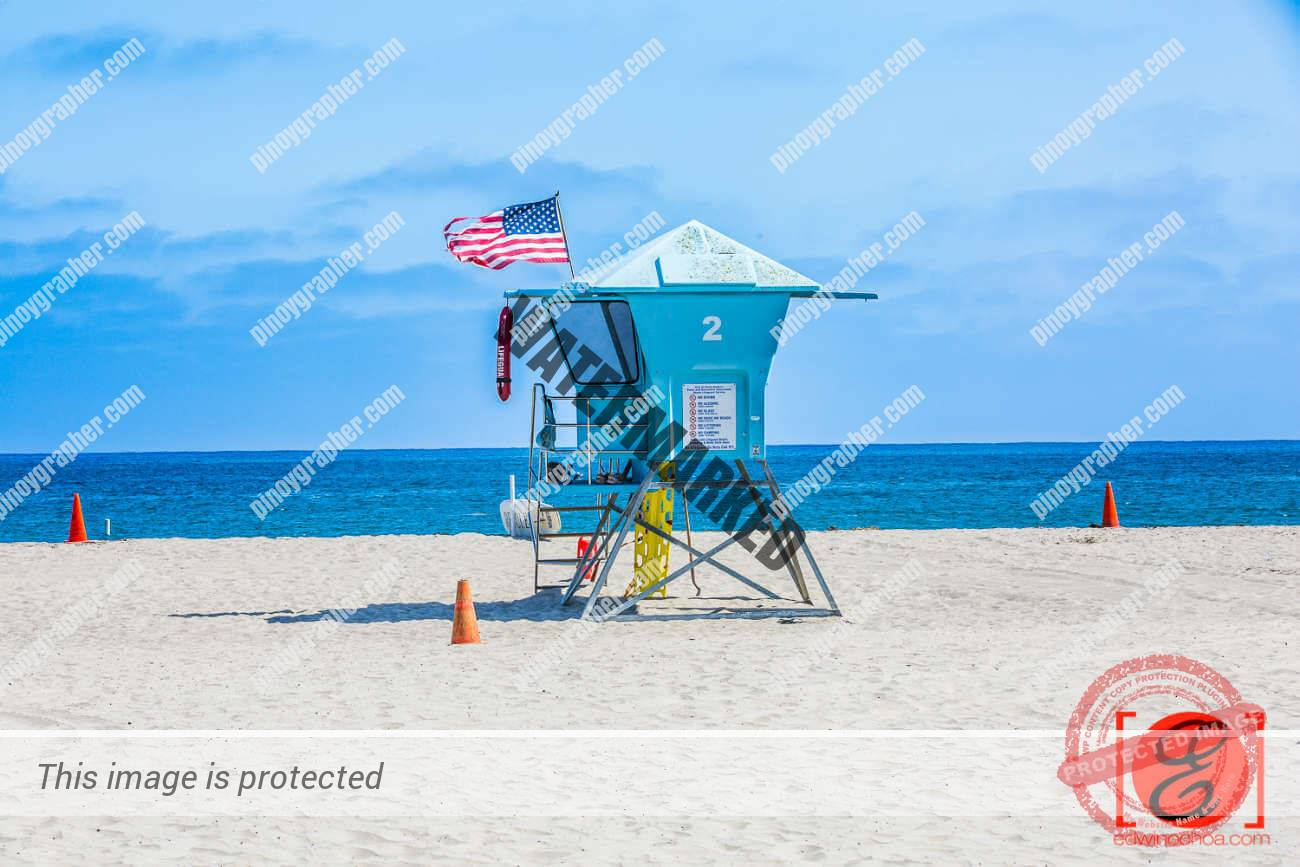 LIfeguard Post at Santa Barbara Beach